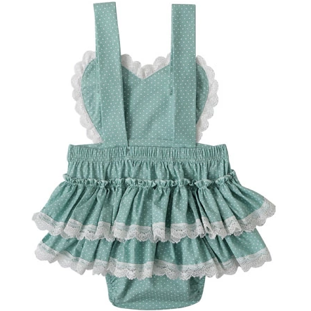 Madison Heart Baby Girl  Romper - Little Adora and Company