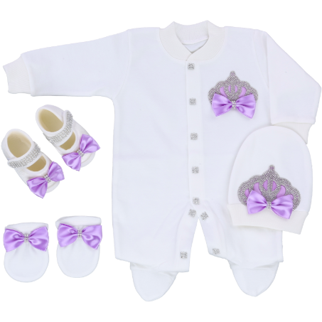 Crown princess Baby Girl 4 Pcs Set - Little Adora and Company