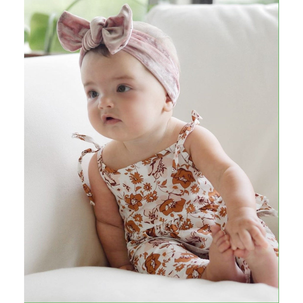 PREORDER Elodie Vintage Baby Girl Jumpsuit - Little Adora and Company