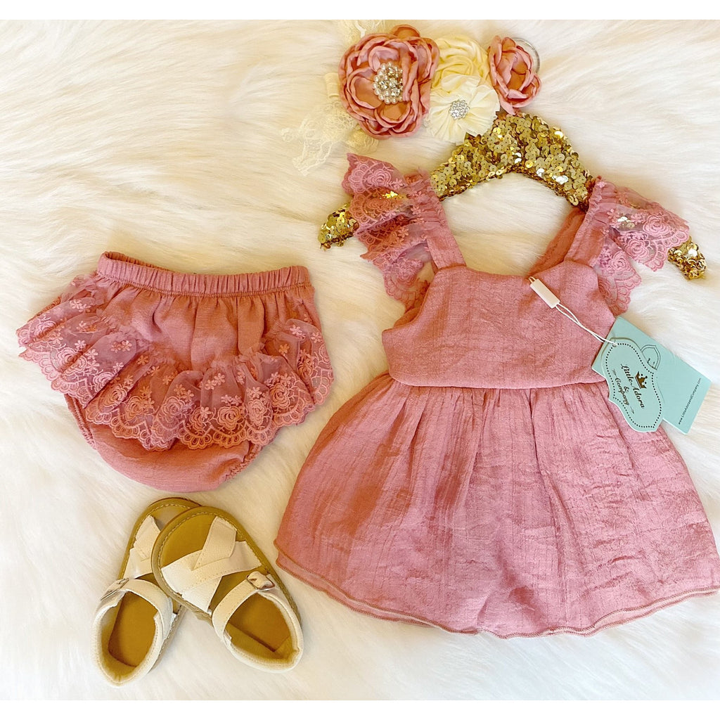 (Adora Couture) Anastasia Lace Swing Outfit - Little Adora and Company