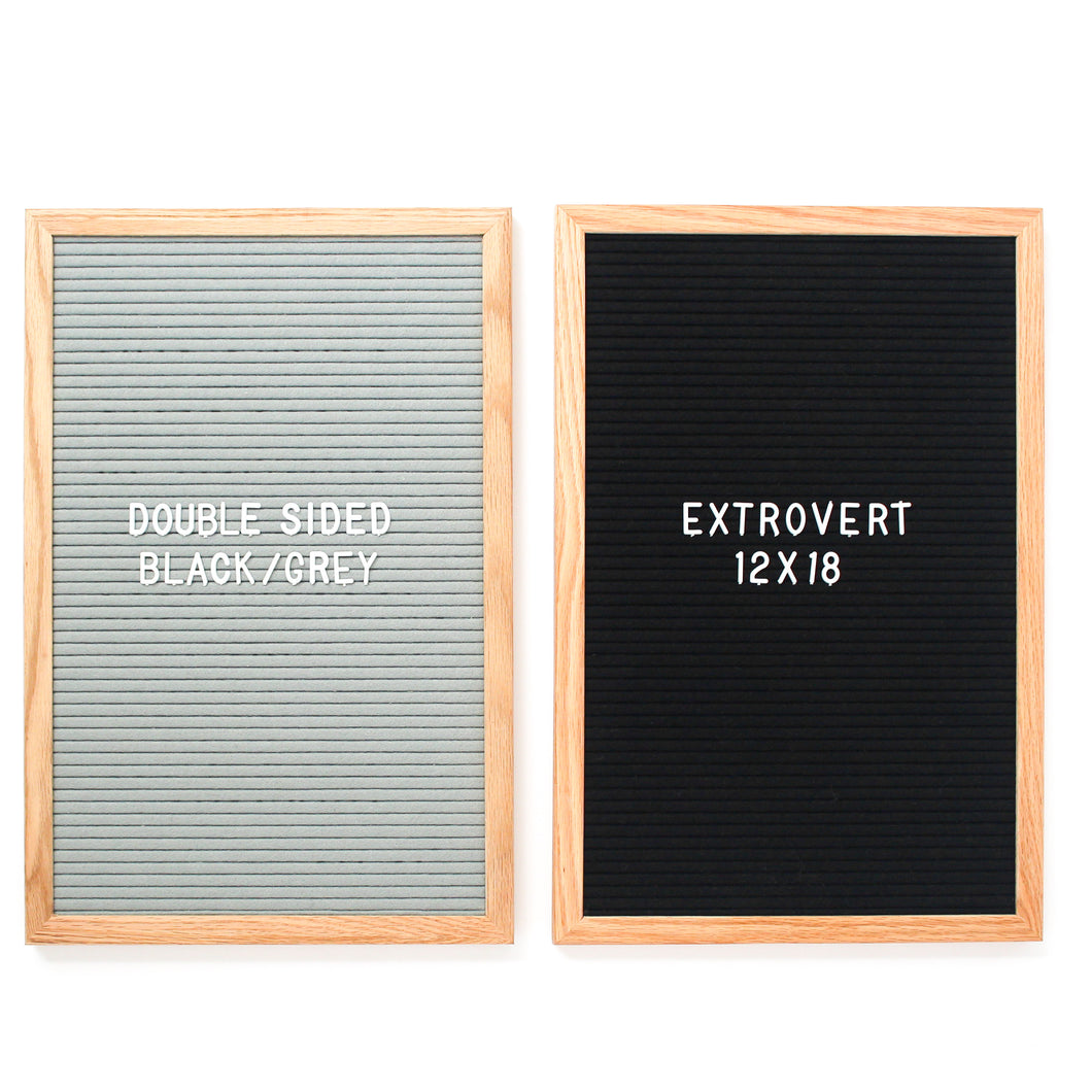 Extrovert - Double Sided - Black & Grey