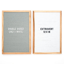 Extrovert - Double Sided - Grey & White