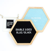 Double Sided Introvert Hexagon - Black & Antique Blue
