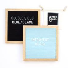 Double Sided Introvert - Black & Antique Blue