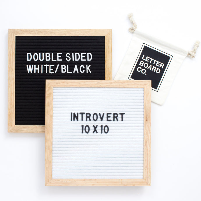 Double Sided Introvert - White & Black