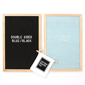 Extrovert - Double Sided  - Black & Antique Blue
