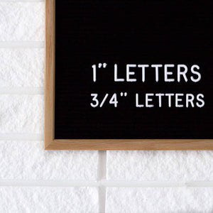 Additional 3/4' Letter Set - White