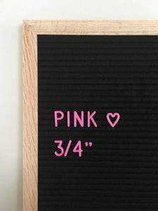 Additional 3/4' Letter Set - Pink
