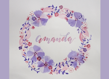 Watercolour Lettered Wreaths - GOLD COAST, Sat 27 Oct