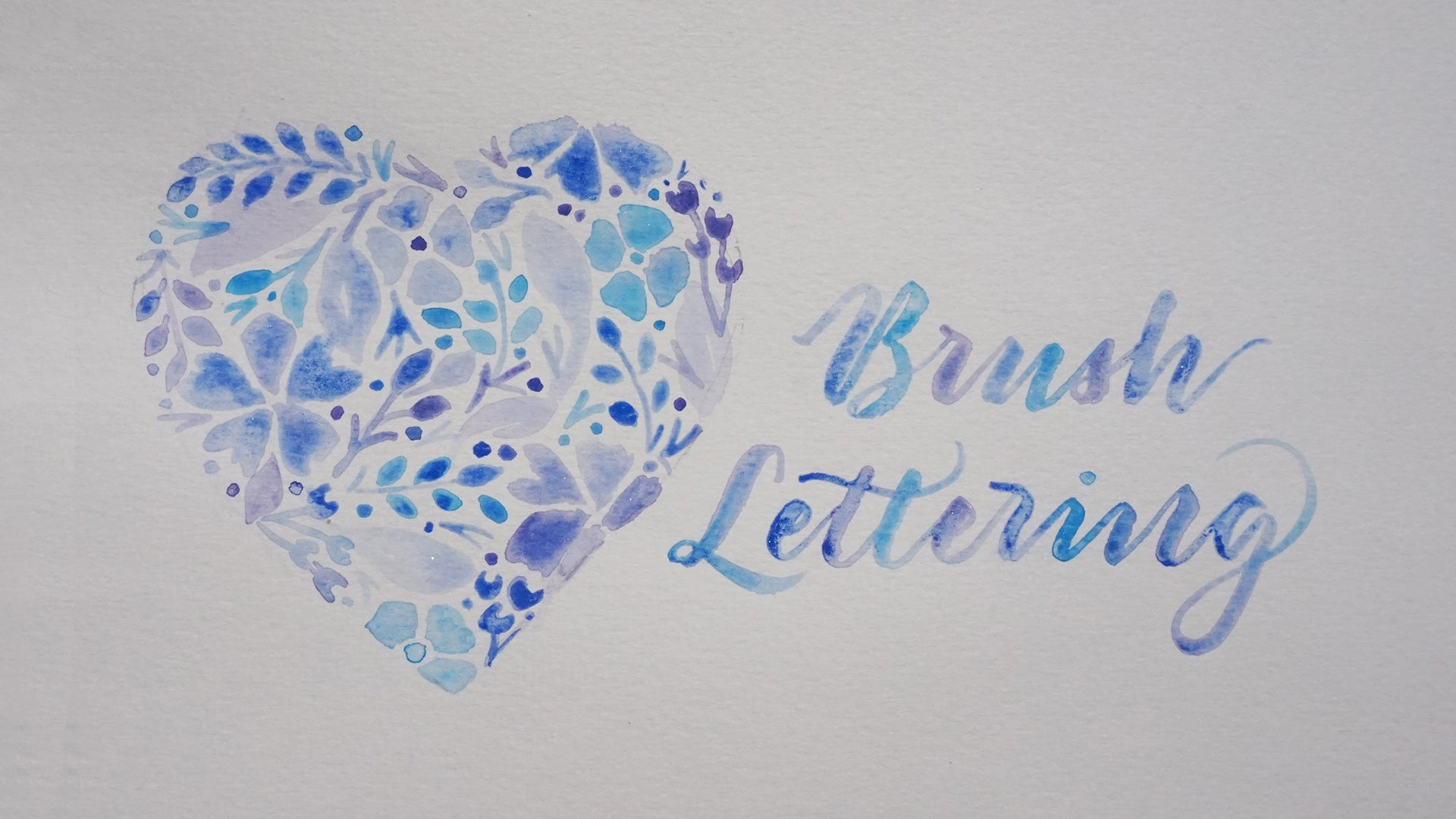 Watercolour Brush Lettering Workshop