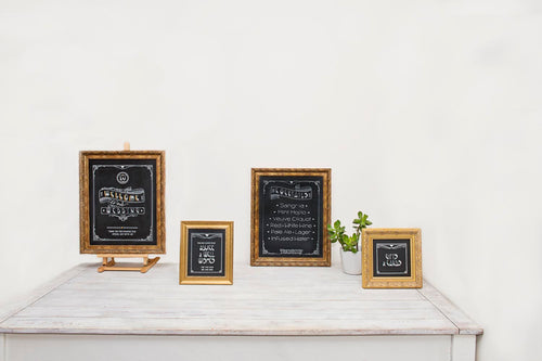 Chalkboard Sign with gold frame by Tania Hearn at Inkify, Gold Coast