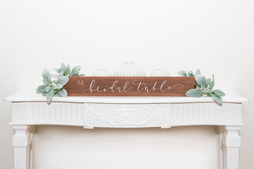 Bridal Table sign to hire by Tania Hearn at Inkify, Gold Coast