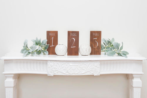 Table Numbers for hire