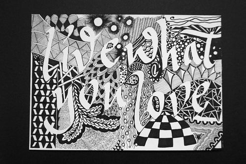Zentangle calligraphy workshop by Tania Hearn at Inkify, Gold Coast
