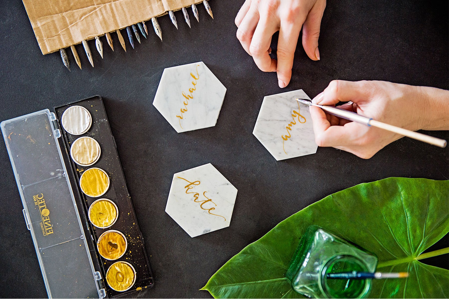 Modern calligraphy workshop by Tania Hearn at Inkify, Gold Coast