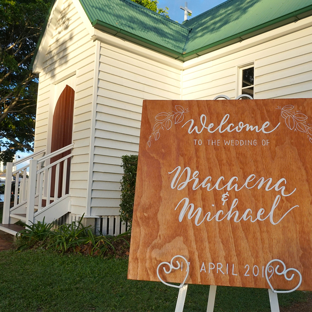 Wedding and Event Signage, Brisbane, 10 June