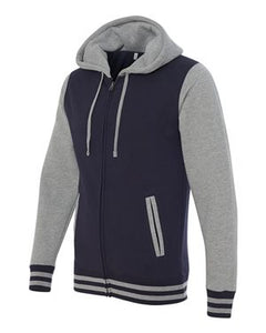 Unisex Varsity Full-Zip Hooded Sweatshirt