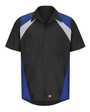 Red Kap - Tri-Color Short Sleeve Shop Shirt - SY28 - Hard Reset Printing