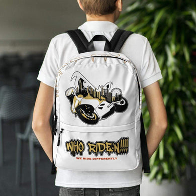 Who Ride'n !!!Backpack - Hard Reset Printing