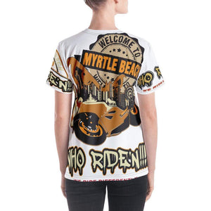 Who Ride'n !!! Women's V-neck - Hard Reset Printing