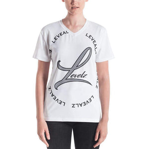 Level Women's V-neck - Hard Reset Printing