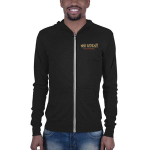 Who Ride'n !!! Unisex zip hoodie - Hard Reset Printing