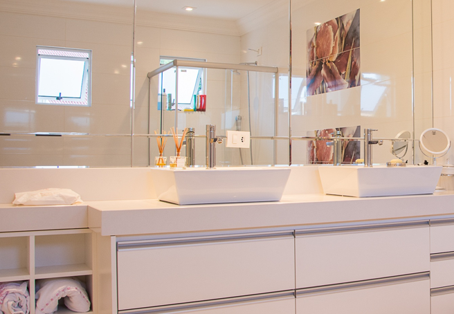 bathroom storage organized home