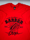 Lucky's Barber Shop Red Clipper Shirt