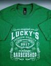 Lucky's Barber Shop Vintage Green Shirt