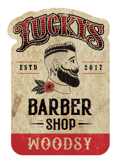 Lucky's Beard Oil Woodsy from Lucky's Barber Shop in Midlothian Texas