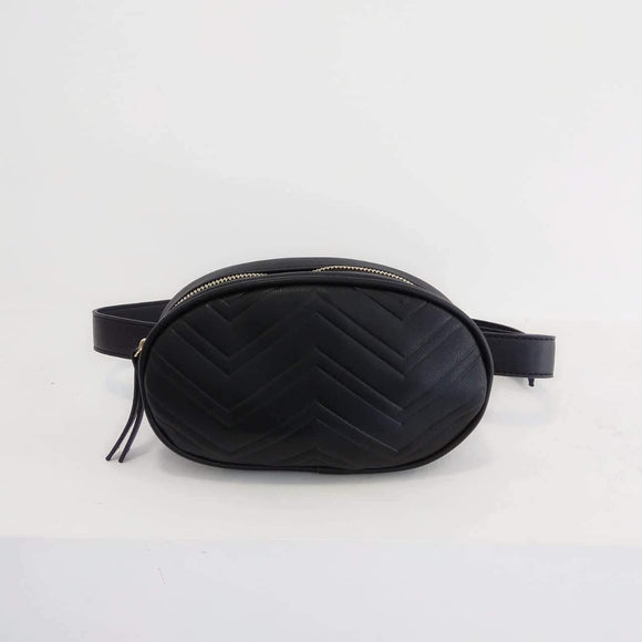 Τσαντάκι μέσης belt bag μαύρο, Shoulder Bags, Footsteps, Footsteps