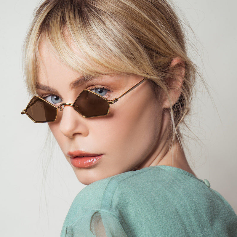 PIAGO - 18K Gold on Gold Lens-Sunglasses-AMAVII Eyewear