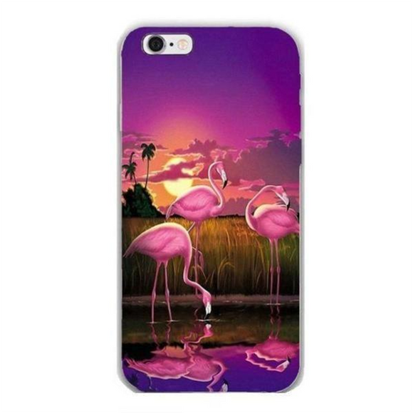 Coque iPhone Flamant rose