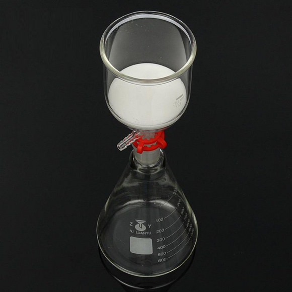 Fiole conique 1 Litre Erlenmeyer + entonnoir Buchner 350 ml