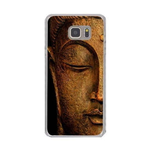 Coque Galaxy Bouddha demi visage Or