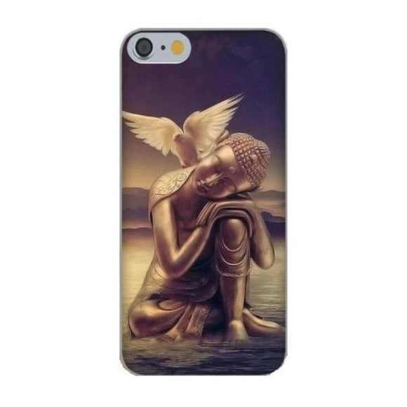 Coque iPhone Bouddha Colombe