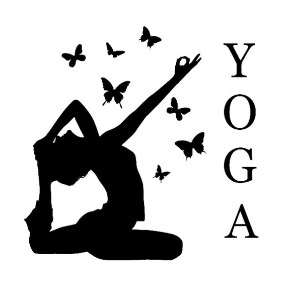 Stickers Yoga papillons