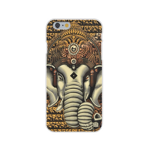 Coque iPhone Ganesha Or
