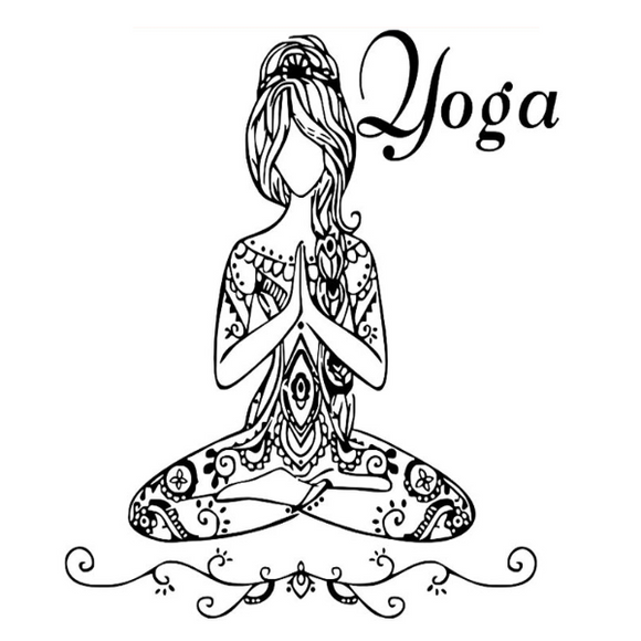 Stickers indien yoga