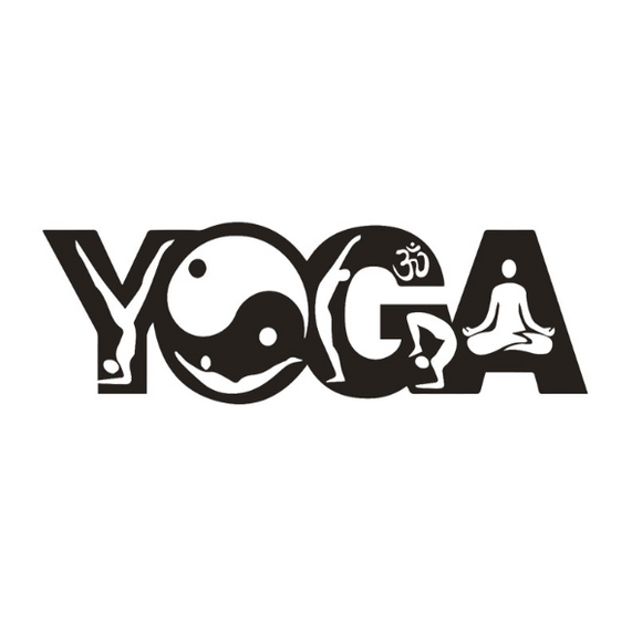 Stickers Yoga Géant