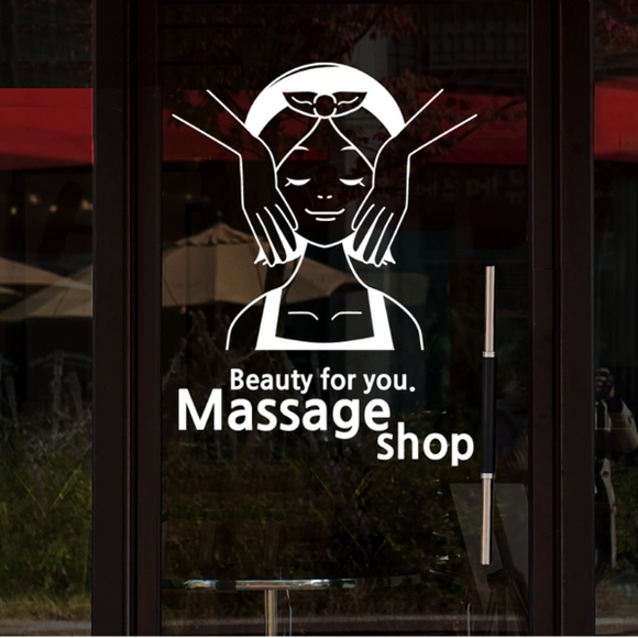 Stickers massage shop