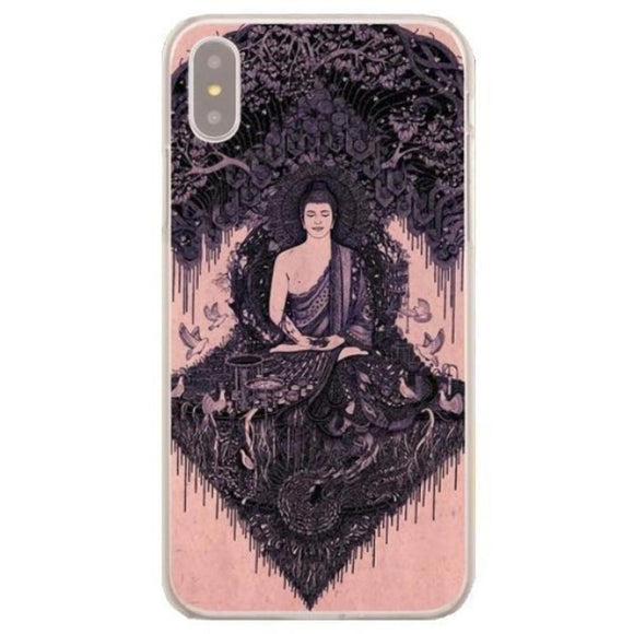 Coque iPhone Bouddha méditant