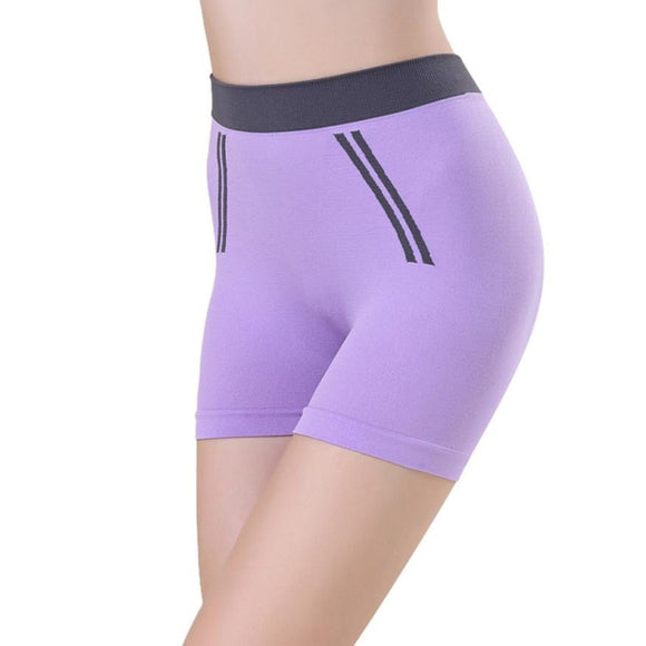 Short violet de remise en forme Yoga Fitness Pilates