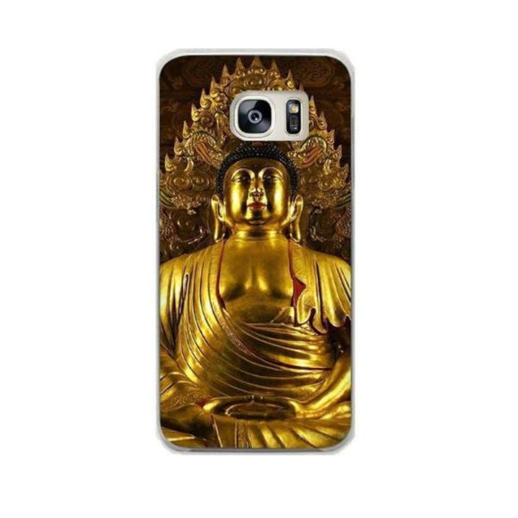 Coque Galaxy Bouddha Or