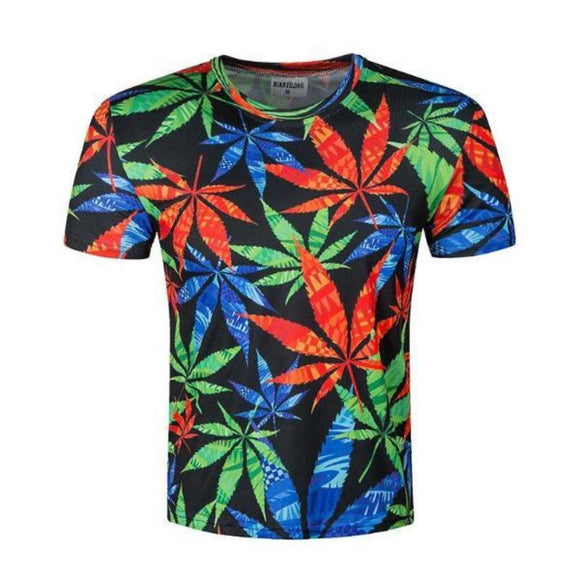 T-shirt cannabis multicouleur