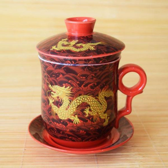 Tasse à thé dragon - 4 pcs