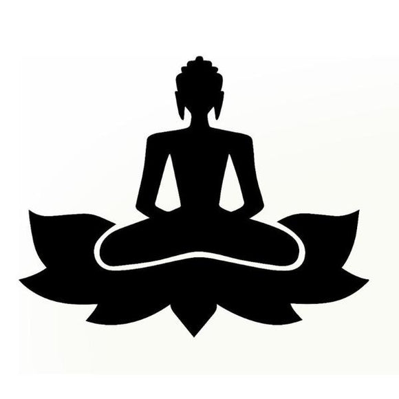 Stickers Yoga Bouddha Lotus