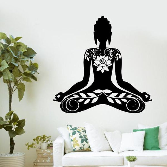 Stickers Bouddha florale