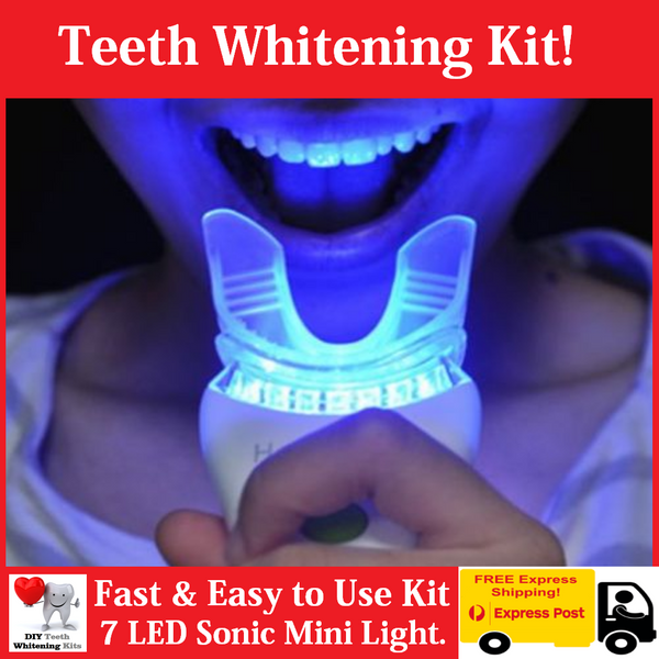 DIY Teeth Whitening Kits eBay | 7 LED Sonic Massage Teeth Whitening Kit