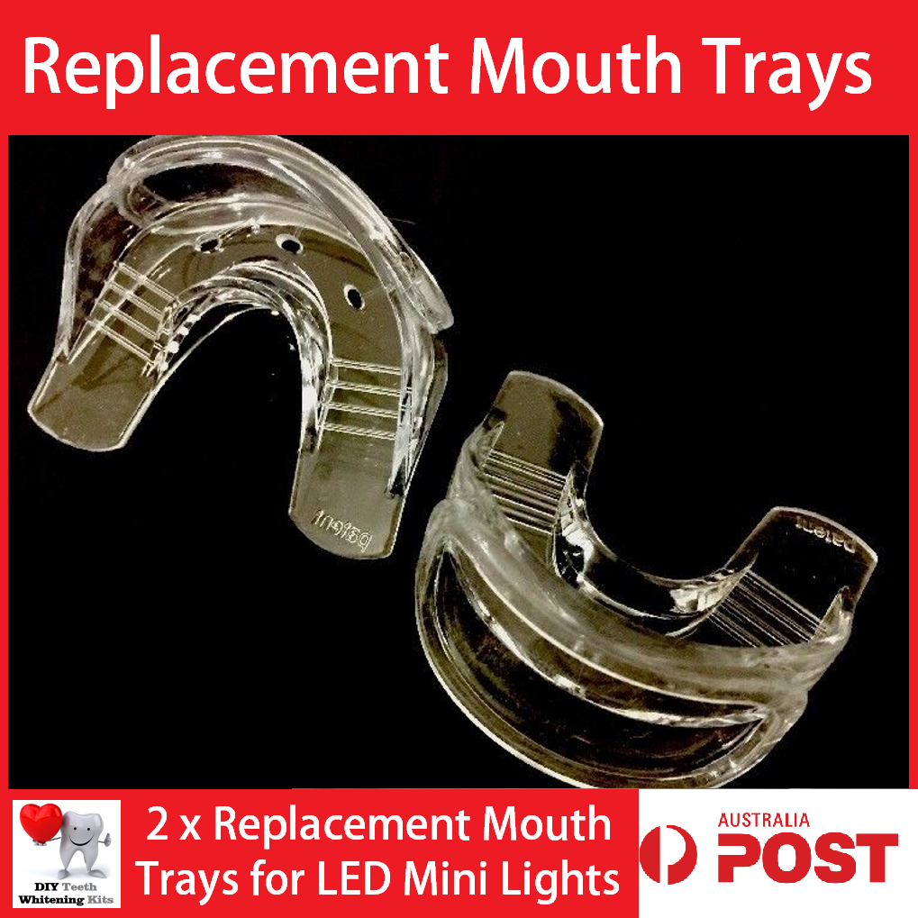 2 x Teeth Whitening Replacement Mouth Trays for Teeth Whitening LED Lights.